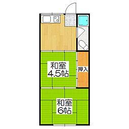 吉村マンション[103号室]の間取り