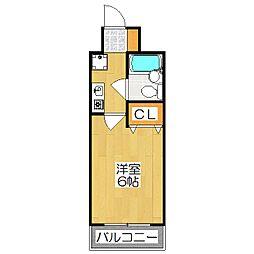 エスリード京都河原町第2[203号室]の間取り