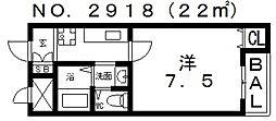 フィレンツェ四天王寺[5階]の間取り