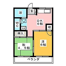 タマキビル[5階]の間取り