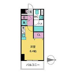 レジディア栄[6階]の間取り