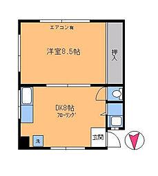 多摩川1丁目マンション[201号室]の間取り