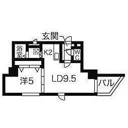 センチュリースペース中央411[5階]の間取り
