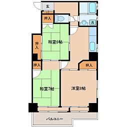 宮城野桜ハイツ[5階]の間取り