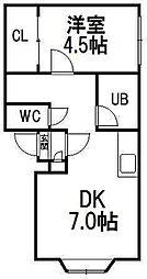 澄川2・4[B402号室]の間取り
