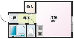 東京都足立区保木間5丁目の賃貸アパートの間取り