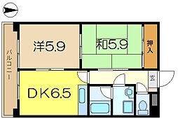 日宝コートヒルズ洋光台2[2階]の間取り