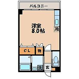 筑後屋柴田ビル[203号室]の間取り