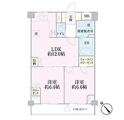 中新井サンライトマンション[1階]の間取り