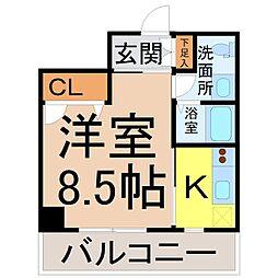 愛知県名古屋市中川区山王1の賃貸マンションの間取り