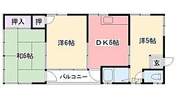 喜代田マンション[8号室]の間取り