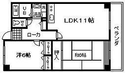 ドエル岸和田[103号室]の間取り