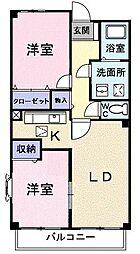 プルミエラムール[1階]の間取り