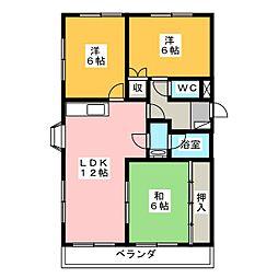 マンション菅沼[2階]の間取り