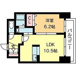 北海道札幌市中央区北二条東1丁目の賃貸マンションの間取り