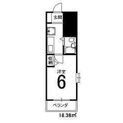 DETOM-1京都外大南[304号室]の間取り