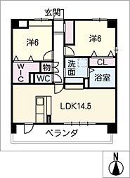 仮)久地野マンション[2階]の間取り