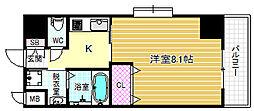 インベスト北梅田[4階]の間取り
