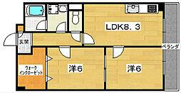 フロレスタ磐船[4階]の間取り
