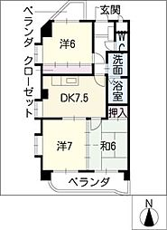 アベニュー21[2階]の間取り