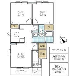 ヨットン・ハウス II[102号室号室]の間取り
