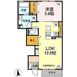 仮)D-room湊高台B[1階]の間取り