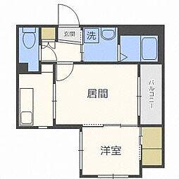 西鉄天神大牟田線 高宮駅 徒歩5分の賃貸マンション 4階1LDKの間取り