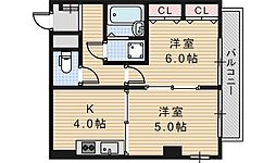 ライオンズマンション昭和町[301号室]の間取り