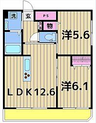 星野マンション[1階]の間取り
