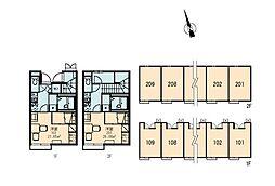 レオパレスソレーユ[2階]の間取り