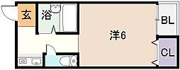 シャトレ小阪[4階]の間取り