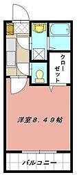 グランドゥール緑ヶ丘[105号室]の間取り