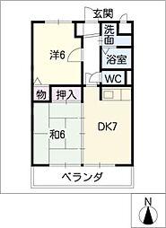 ネオ・カーサ 岐西[2階]の間取り