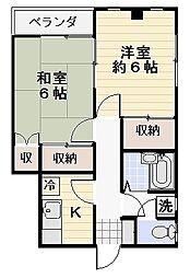 長島ビル[3A号室]の間取り