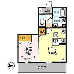 luana[1階]の間取り