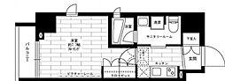 ステージグランデ新御徒町アジールコート 7階1Kの間取り