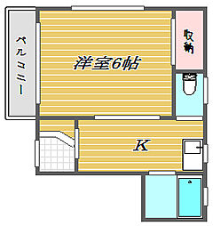 東京都豊島区駒込3丁目の賃貸マンションの間取り