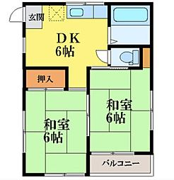 上の山ビル[1階]の間取り