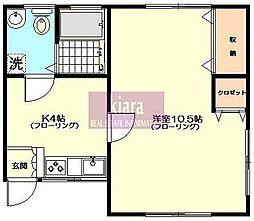 三福荘[2号室]の間取り