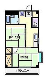 第13ウッディビル[2階]の間取り