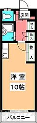 第2マンションふじ[406号室]の間取り