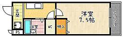 アルカディア堂山[111号室]の間取り
