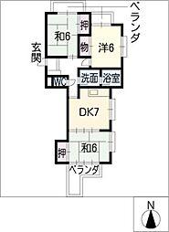 パルシェ三蔵子A棟[1階]の間取り