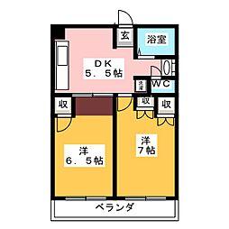 アールグラン天白[3階]の間取り