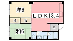 津田ビル[203号室]の間取り