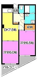 タカコービル[3階]の間取り