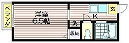 東京都調布市東つつじケ丘1の賃貸アパートの間取り