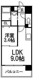 北海道札幌市豊平区月寒中央通5丁目の賃貸マンションの間取り