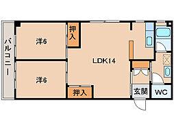 和歌浦マンション[3階]の間取り