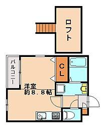 プレジャー福大前II[2階]の間取り